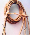 Browband Braided leather rawhide jaquima