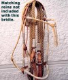 Beautiful, rawhide Jaquima trail bridle