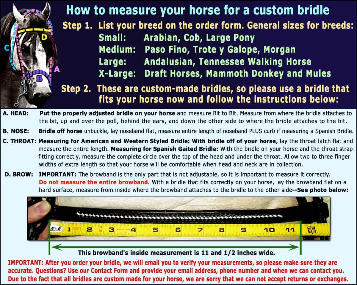 bridle-jaquima-size-chart