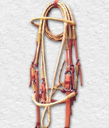 Braided leather bridle