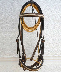 Show or trail bridle, chocolate leather