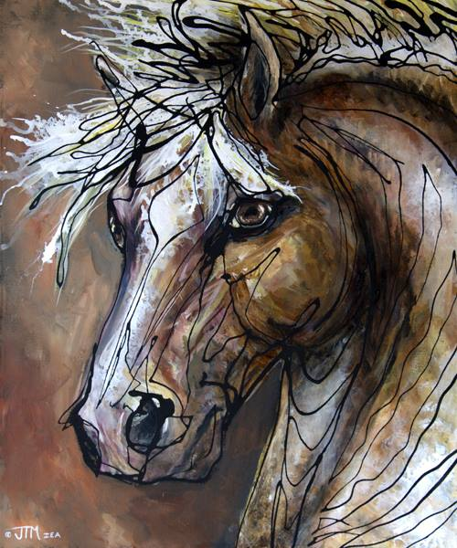 Paso Fino stallion painting