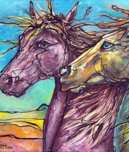 Spanish Horse original painting.