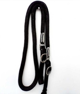 Show reins, braided goat leather