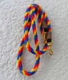 Yellow Red blue snap reins