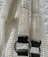 Hand Stitched reins with goat knitting
