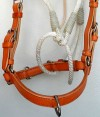 Noseband Handmade Rope and leather jaquima