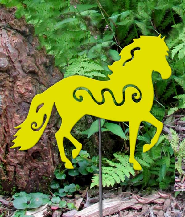 Paso Fino Yard Art Yellow