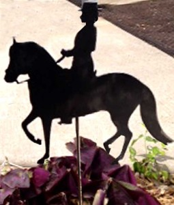 Paso Fino and Rider Garden Art
