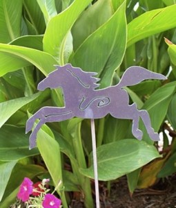 Running Horse Metal Garden Art