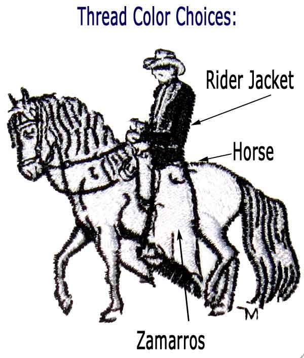 Custom Embroidery, Back of Cap Lettering, Trocha Horse, Style TROCAP3CUST