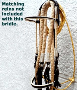 cream and black paso fino show bridle