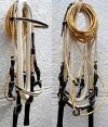 cream and black paso fino show bridle