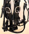 noseband handmade braided leather bridle