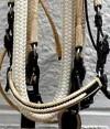 noseband cream and black paso fino show bridle