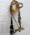 Paso Fino Bridle in the Colombian Flag Colors