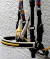 Nose band Leather Paso Fino Show Bridle in the Colombian F lag Colors