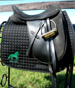 Custom Saddle Pad, embroidered with your horse's name