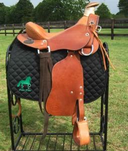paso fino saddle pad black