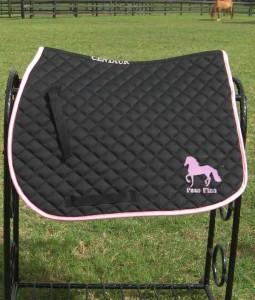 paso fino saddle pad black and pink