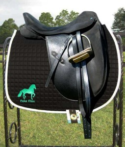Paso Fino horse Anti-Microbial saddle pad Custom Embroidery on Both