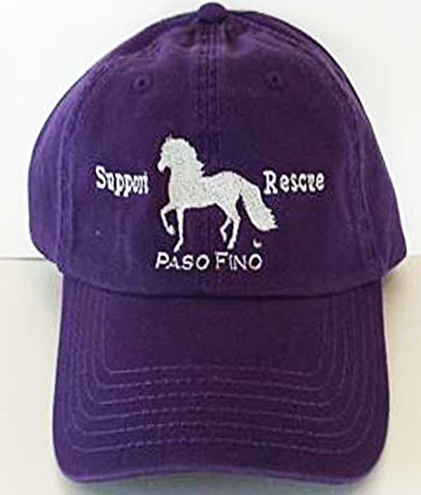 Paso Fino Rescue Embroidered Cap 100 Of All Profits Go To Equine