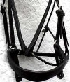 black on black show bridle 0021
